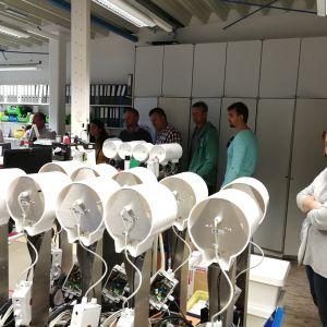 METOS gyárlátogatás - meteorológiai mérőállomás